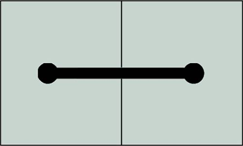A plan drawing of dumbbell type waterstop