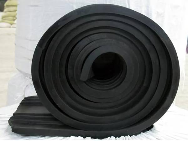 A coil of black HDPE waterstop