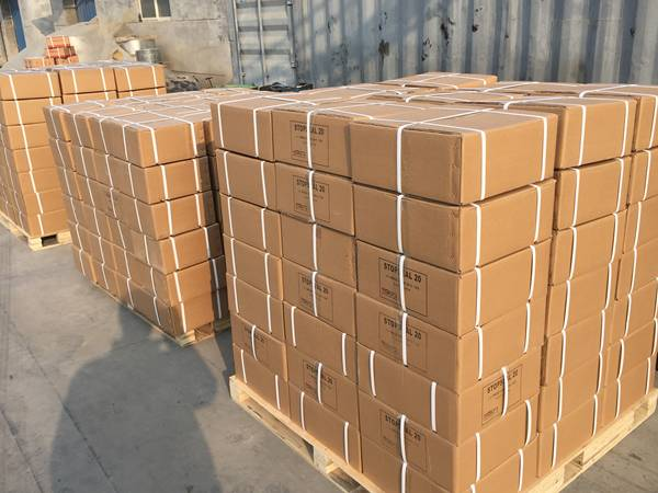 Several boxes of PZ strip waterstops are packed ontot the pallet.