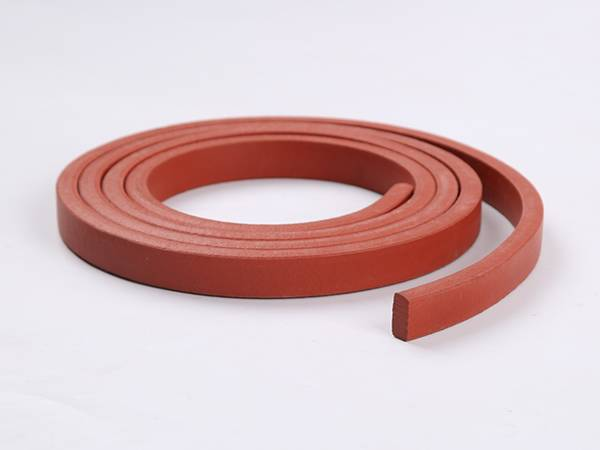 A roll of red PZ strip waterstop